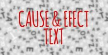 Cause & Effect Text